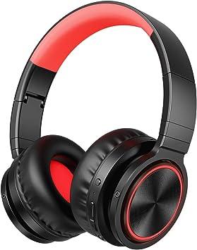 Auriculares inalámbricos Bluetooth sobre la Oreja, Plegables Hi-fi estéreo con Suaves Almohadillas de proteína, cableado/inalámbrico/Modo TF para ...