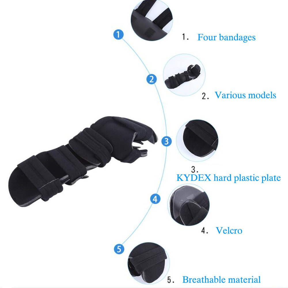 Soft Functional Resting Hand Splint for Stroke, Fracture, Tendinitis, Dislocation (Medium, Left) by Furlove (Image #2)