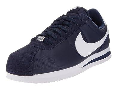 best sneakers 14418 99b56 Nike Men's Cortez Basic Nylon Obsidian/White/Mtllc Slvr Casual Shoe 9