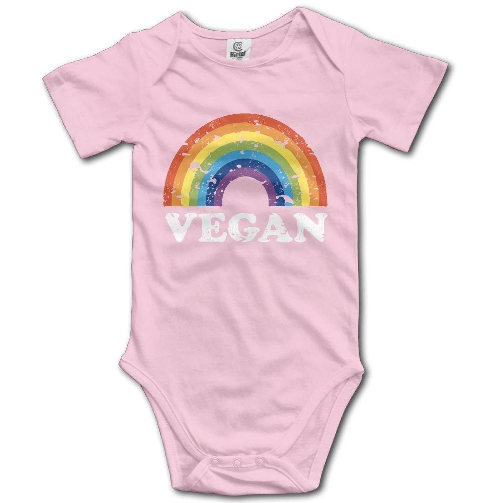 braeccesuit Newborn Babys Vegan Rainbow Short Sleeve Romper Onesie Bodysuit Jumpsuit