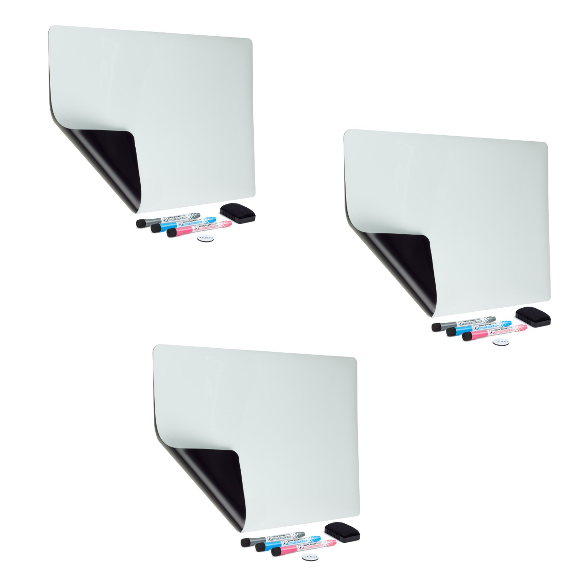YES4QUALITY Refrigerator Whiteboard, 3-Pack