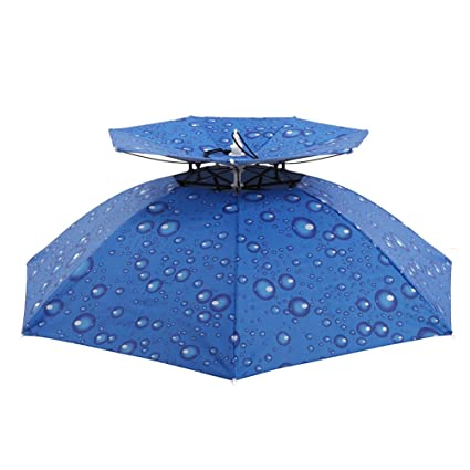6b3683e1c40a1 Cocohot New Outdoor Large Double-deck Windproof Fishing Umbrella Hat Cap  Fishing Cycling Hiking Camping