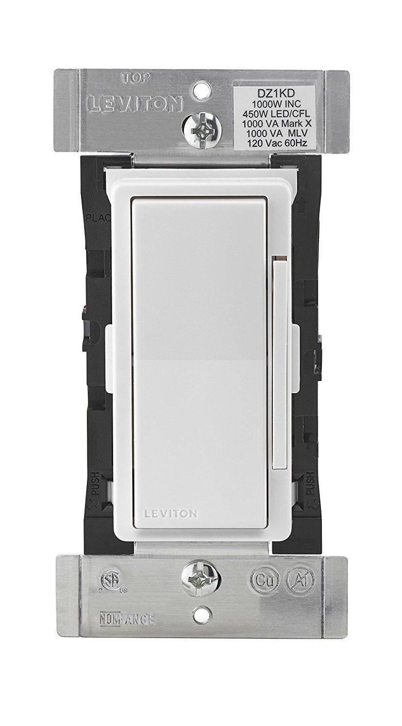 Leviton DZ1KD-1BZ Decora Smart 1000W Dimmer with Z-Wave Plus Technology, Works with Amazon Alexa (6 Pack) by Leviton (Image #2)