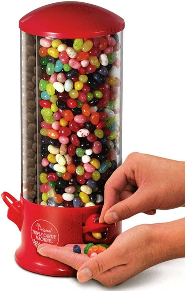 Distribuidor de Golosinas, Chewing gum y Peanuts - 3 compartimentos - 29 x 13 cm