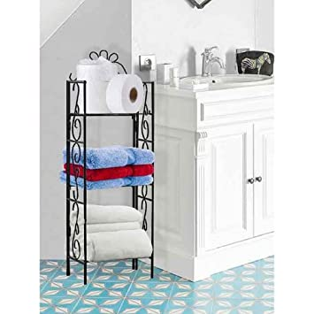 Amazon.com: Bathroom Etagere Wire Rack Spacesaver Storage Shelving ...