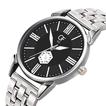 Amazon.com : XBKPLO Quartz Watches Mens Analog Wrist Watch Pointer Light Business Stainless Steel Band Temperament Strap Watch Jewelry Gift : Pet Supplies