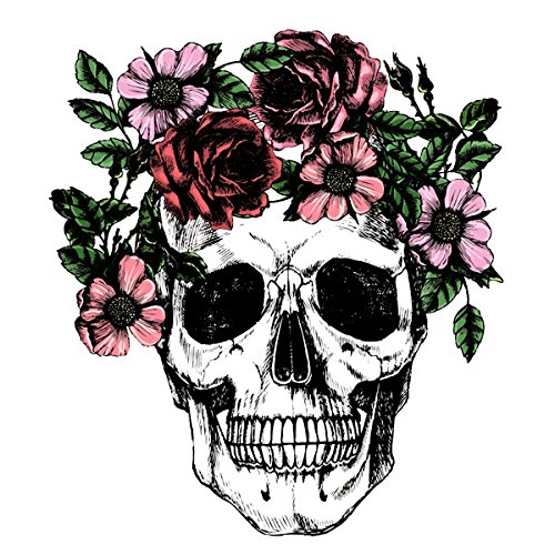 Scrapbook Customs Flowered Skull Rubber -
