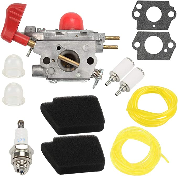 POEMQ 545081857 Carburetor for Poulan VS-2 BVM200FE Gas Blower Craftsman Craftsman 358794770 358794780 944518250 358794763 Blower Replace ZAMA C1U-W43 with Choke Lever Fuel Filter Gaskets