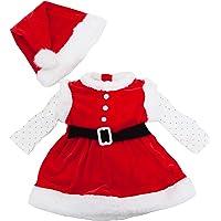 Toocool - Completo Bambina neonata Tutina Vestitino Babbo Natale Cappellino Nuovo FK826