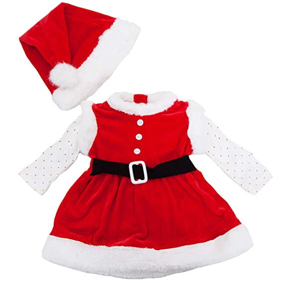 Toocool - Completo niña bebé Pelele Vestido Papá Noel Gorra ...