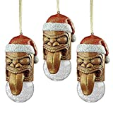 Hawaii Hawaiian Warrior Decor Tiki God Christmas Tree Ornament Holiday Xmas Art
