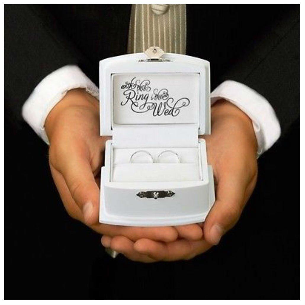 Wedding Ring Bearer Box Ring Pillow Alternative Boy Ceremony Aisle Unique Gift