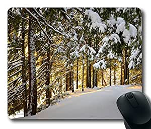 Forest Winter 3 Mouse Pad Desktop Laptop Mousepads Comfortable Office Mouse Pad Mat Cute Gaming Mouse Pad