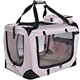 Lightweight Fabric Pet Carrier Crate with Fleece Mat and Food Bag - Extra Large (32 x 23 x 22