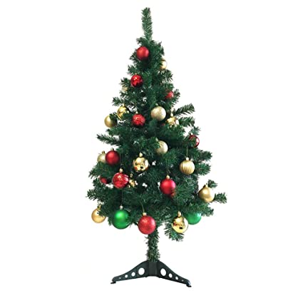 unique imports new prestige green artificial pine christmas tree with stand 4 ft eco friendly