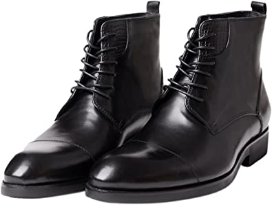 Santimon Mens Boots Genuine Leather