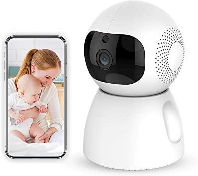Peteme 1080P FHD WiFi IP Security Camera Wireless Indoor Camera with Motion Detection Night Vision 2-Way Audio Home Pan//Tilt//Zoom Surveillance Monitor for Baby//Elder//Pet