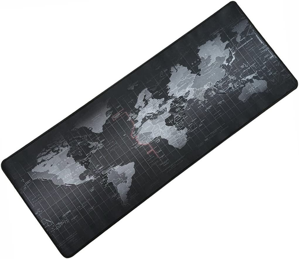 Maggiore precisione e velocit/à di Grandi Dimensioni Base in Gomma per Una Presa Stabile su superfici Lisce 60x30 Black001 HIHUHEN Tappetino per Mouse da Gioco 600 x 300 mm XXL