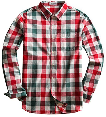 - Men's Long Sleeve Plaid Button Down Cotton Casual Shirts Muti Plaid 16 X-Large