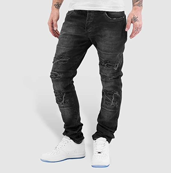 788e0d12 Red Bridge Men Jeans/Straight Fit Jeans Destroyed: Amazon.co.uk ...