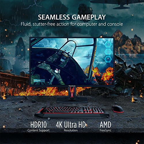 "ViewSonic XG3220 32"" FreeSync 4K Gaming Monitor HDMI, DisplayPort, HDR10 for PC and Console Gaming"