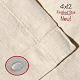 Drop Cloth Tarp Art Supplies - Melca - Be Confident You Have The Canvas You Need - 4x12 Finished Size, Seams Only On The Edges, New Unmarked Fabric, 100% Cotton Duck Fabric