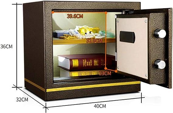 ZXQZ Caja Fuerte, Mini Doméstico de Acero Negro con Caja de Seguridad con Llave para Colocar Cámaras Antiguas Gabinete Seguro: Amazon.es: Electrónica
