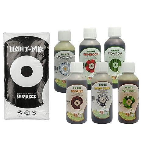 Pack Light.Mix 20 Litres BioBizz + abono - Indoor & Outdoor: Amazon ...