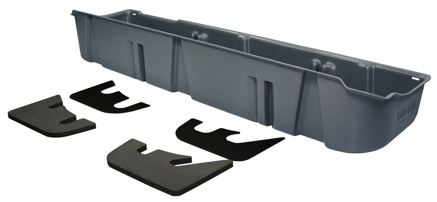DU-HA Under Seat Storage Fits 11-14 Ford F-150 SuperCrew without Subwoofer, Gray, Part #20100 by DU-HA