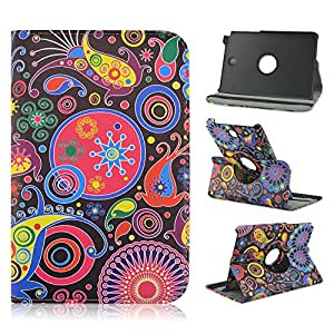 Galaxy Tab A 8-inch SM-T350 Case,Samsung Galaxy Tab A 8-inch SM-T350 Leather,Samsung Tab T350 Case,Candywe 360 Rotating PU Leather Slim Lightweight Print Leather Case Cover For Samsung Galaxy Tab A 8-inch SM-T350 011