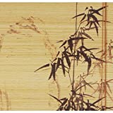 Oriental Furniture Black Bamboo Design Blinds