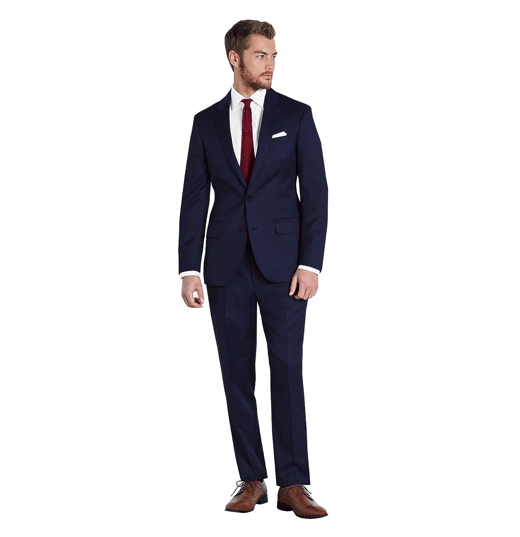 Kelaixiang Mens Two Button Slim Fit Solid Suit Wedding Suit