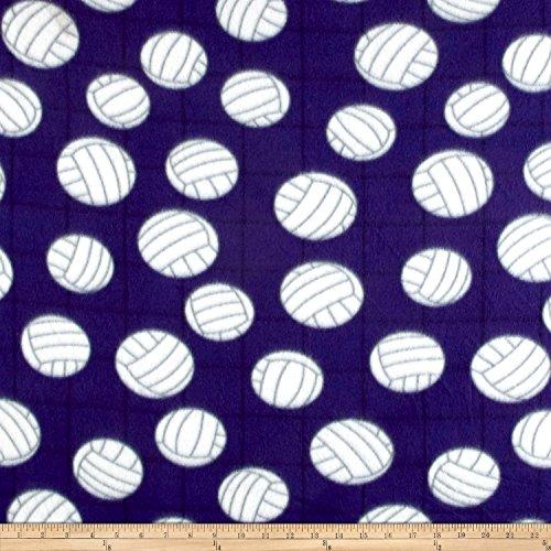 Newcastle Fabrics Polar Fleece Volleyball Purple Fabric By The Yard (Volleyball Fleece Fabric)