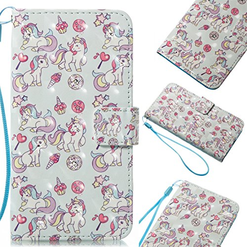 ZTE Blade Zmax Pro 2 Case, ZTE Sequoia Case, ZTE Z982 Case, GNT Bling 3D Handmade PU Leather Wallet Magnetic Clasp Flip Case with Card Holders for ZTE Blade Zmax Pro 2 Z982 Sequoia(Pink Horse)