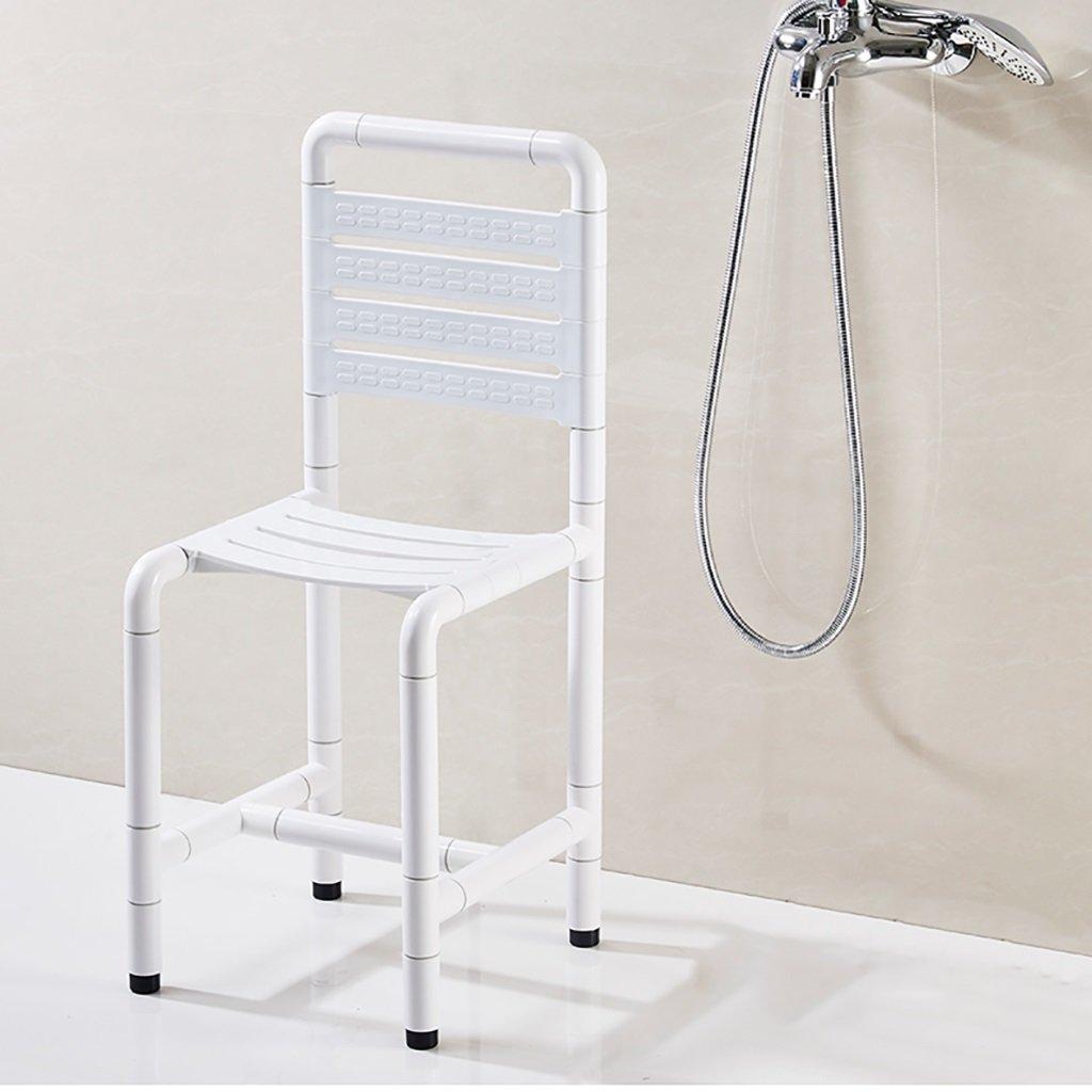 XUEPING バスルームスツールシャワーチェアスツールバスルーム高齢者障害妊婦バスステンレススチール滑り止め便座スツール (色 : B) B07D8WGGN7 B B