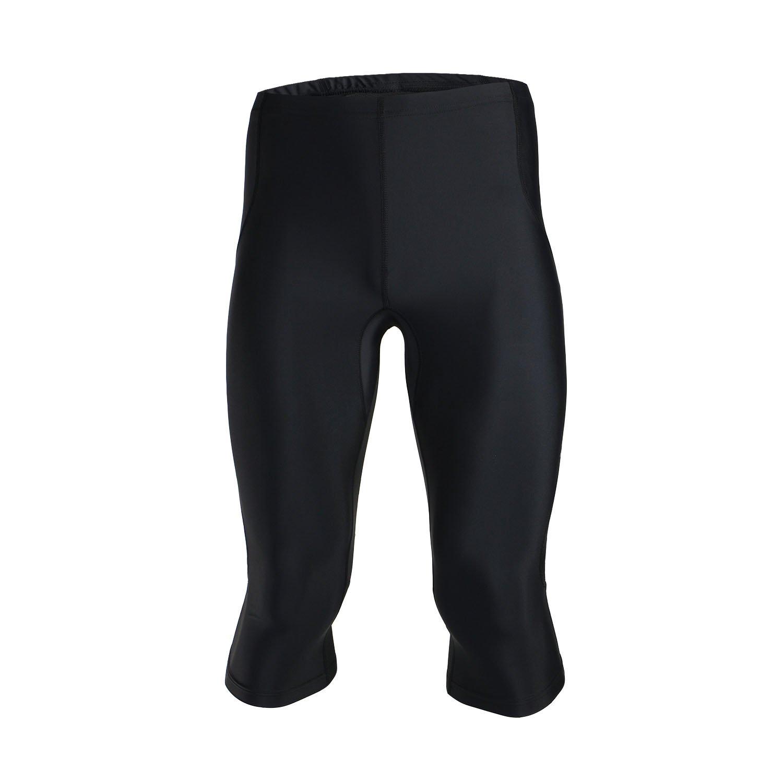 TOFERN Mens Compression Capri Baselayer Tights Cycling Running Sports 3//4 Leggings