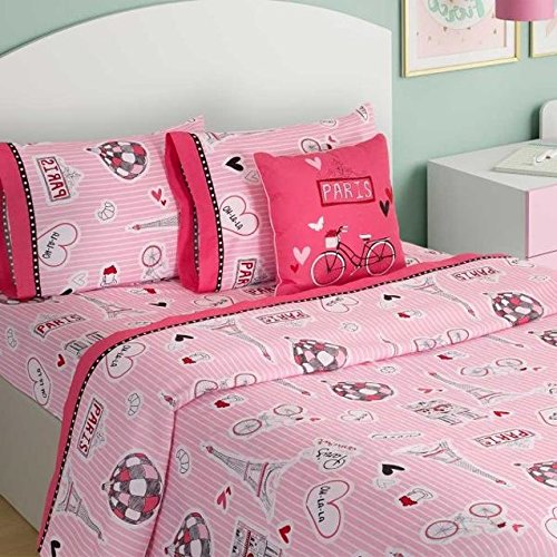 LIMITED EDITION PARIS KIDS GIRLS CHIC BLANKET WITH SHERPA VERY SOFTY AND WARM SHEET SET AND WINDOWS PANELS 8 PCS TWIN SIZE
