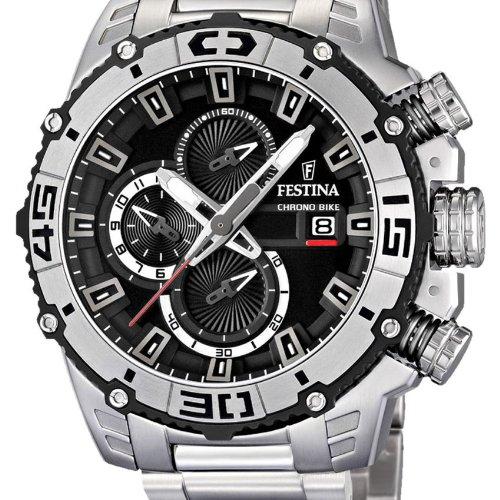 52ccfab1296b Festina Men s Tour de France F16599 3 Silver Stainless-Steel Quartz Watch  with Black Dial  Festina  Amazon.ca  Watches