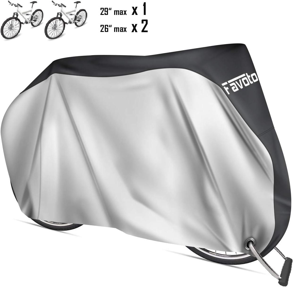 Favoto Funda para Bicicleta Exterior 210D Cubierta Protector al Aire Libre contra Lluvia Sol Polvo para Montaña Carretera XL