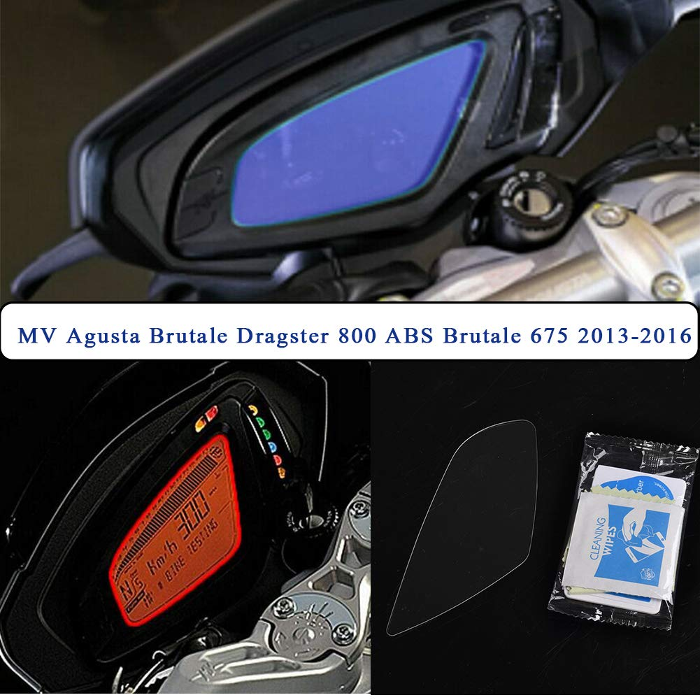 Motorcycle Cluster Scratch Protection Film Cluster Screen Protector for MV Agusta Brutale Dragster 800 ABS Brutale 675 2013 2014 2015 2016