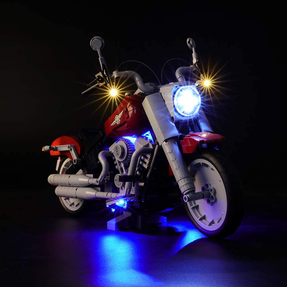 BRIKSMAX Led Lighting Kit for Creator Harley-Davidson Fat Boy Not Include The Lego Set Compatible with Lego 10269 Building Blocks Model