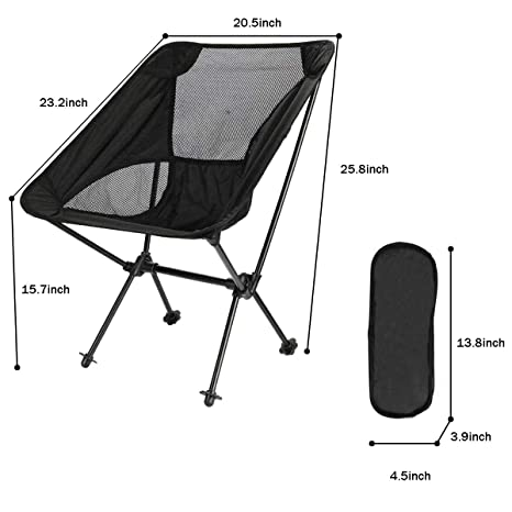Amazon.com : Folding Beach Chair, Portable Lightweight Camp ...