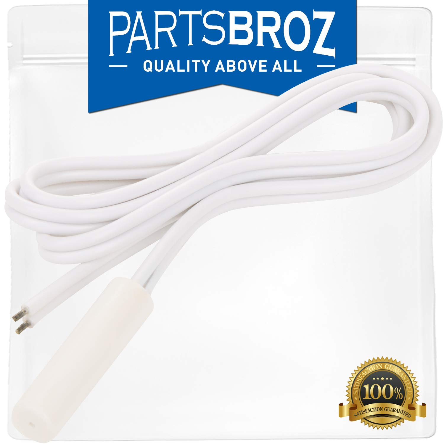 WR55X10025 Temperature Sensor for GE Refrigerators by PartsBroz - Replaces Part Numbers AP3185407, 914093, AH304103, EA304103, PS304103, WR50X10027, WR50X10034, WR50X10055, WR50X10067, WR55X10025B