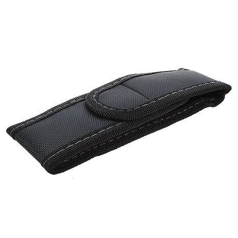 JVSISM Funda de Linterna con Tapa y Clip para Cintura Cinturon de Nylon Negro