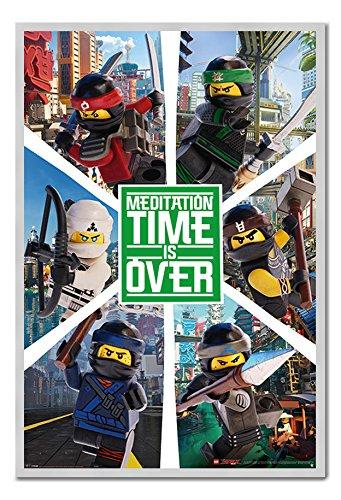LEGO Ninjago Póster de película seis Ninjas tablón de ...