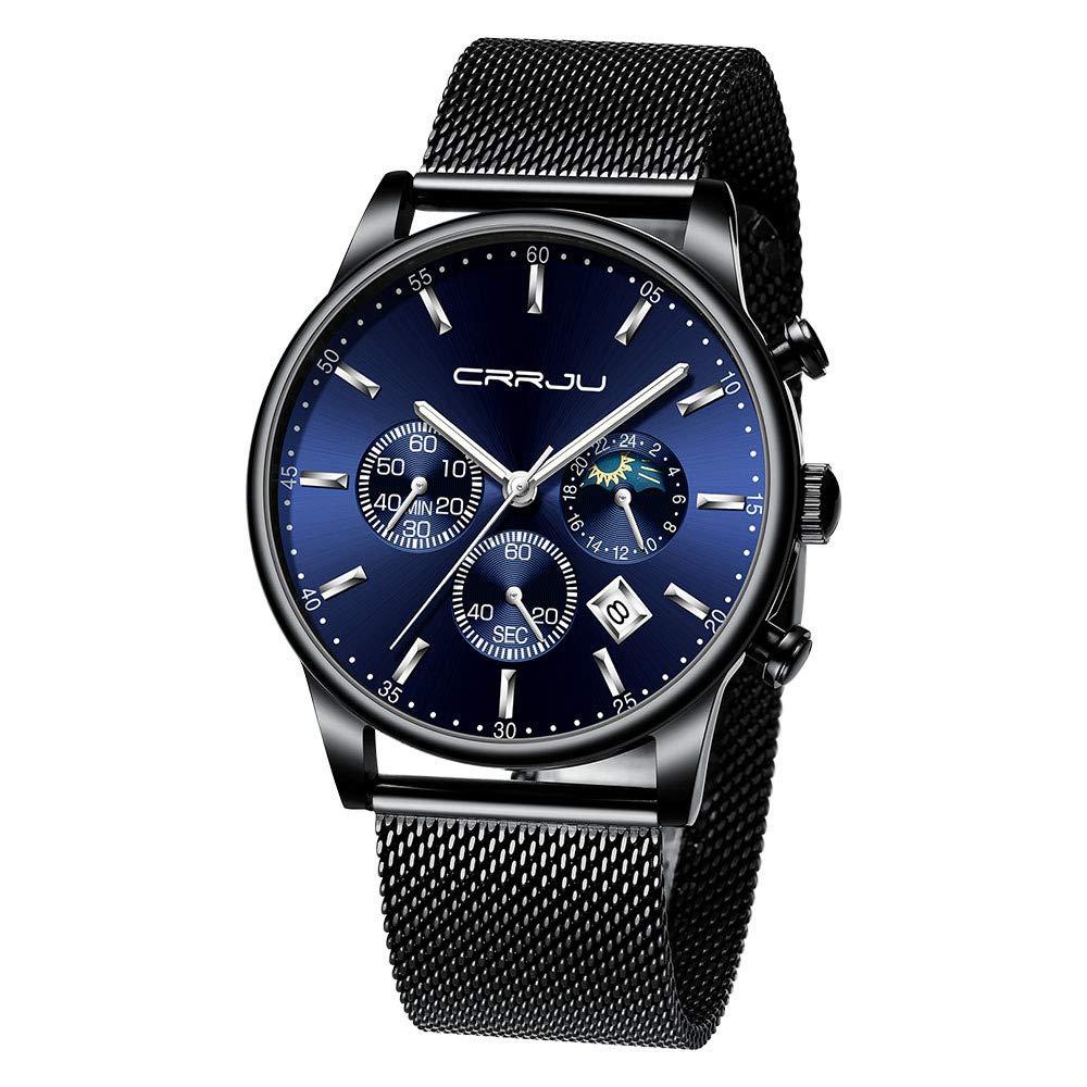 Watch for men,Men's Fashion Sports Luxury Top Brand Quartz Chronograph Watch (F)