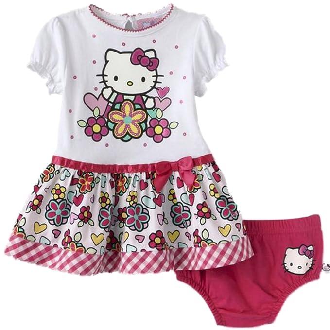 separation shoes 603ad 58fee Hello Kitty estate vestito + bambina bambini da Rosa Bianco ...