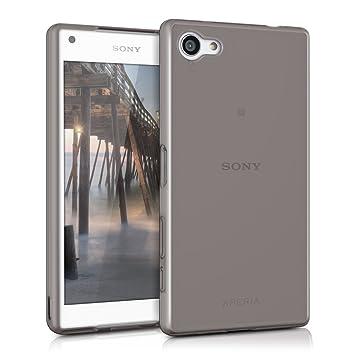 kwmobile Funda para Sony Xperia Z5 Compact - Carcasa Protectora de [TPU] para móvil - Cover [Trasero] en [Negro]