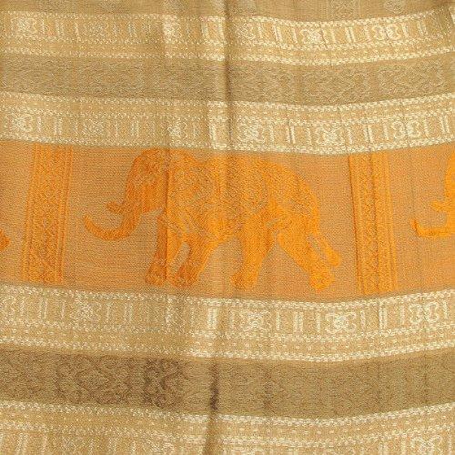 Thaimart éléphant magnifique écharpe châle couleurs joli et doux