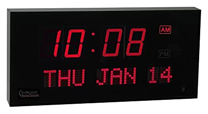 Amazoncom Big Oversized Digital LED Calendar Clock with Day and